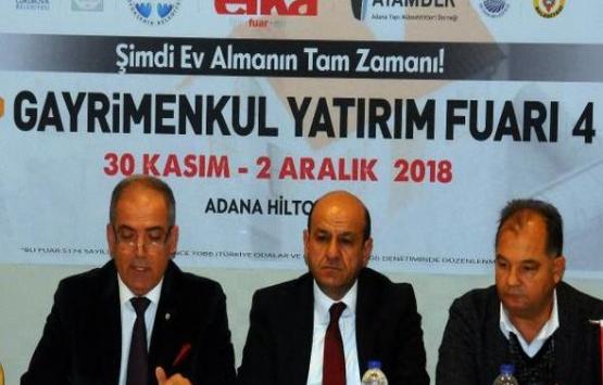 Adana Gayrimenkul Yatırım Fuarı 30 Kasım'da başlıyor!