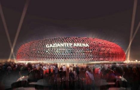 Gaziantep Arena'nın inşaatında
