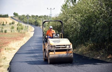 Altındağ'ın köy yollarına 15 bin ton asfalt!