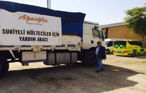 Ağaoğlu'ndan mülteciler için yardım kampanyası!
