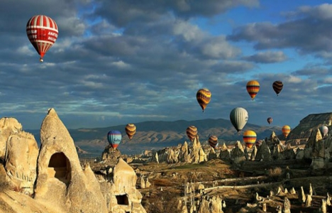 Kapadokya'ya balon turundan