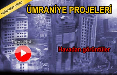 Ümraniye Konut projelerinin havadan görüntüleri!