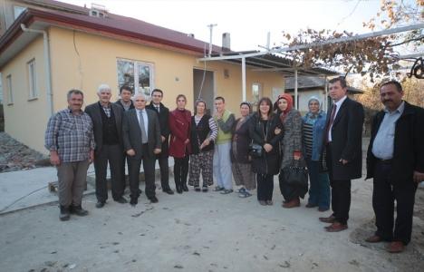 Karlıoğlu ailesinin evi küllerinden yeniden doğdu!
