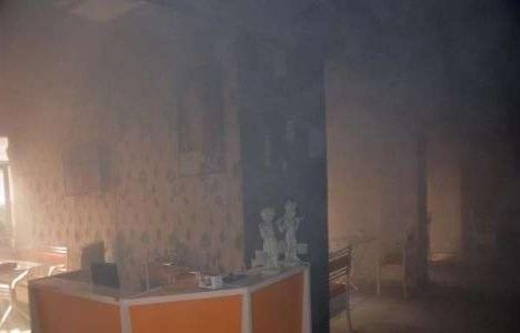 Adıyaman'da bir kafede yangın çıktı!