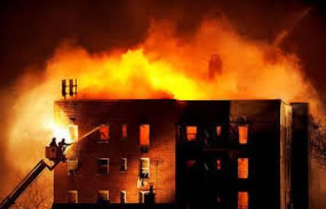 Konya'da bir apartman dairesinde yangın çıktı!