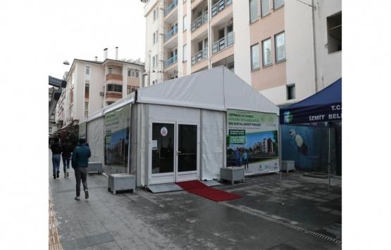 KİPTAŞ İzmit Çınar Evler irtibat çadırı kuruldu!