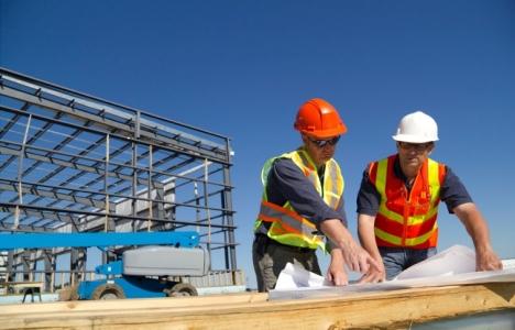Mersin'deki inşaat işçileri