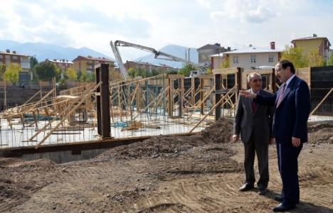 Palandöken Belediye hizmet binası inşaatında son durum!