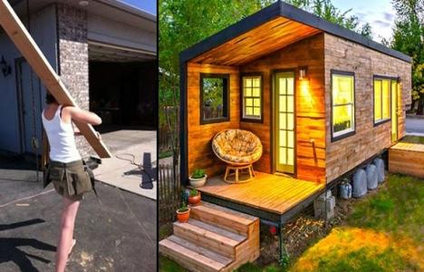 Ev kredisi ödemek yerine kendi evini inşa etti!