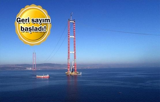 1915 Çanakkale Köprüsü'nde ana kablo montajı başladı!