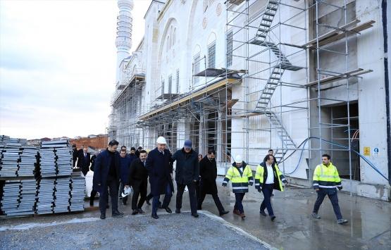 Çamlıca Camii için 350 kişi 24 saat esasıyla çalışıyor!