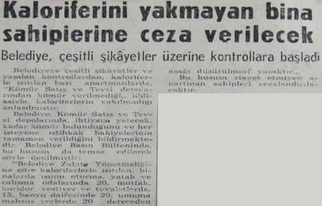 1965 yılında kaloriferi yakmayan bina sahiplerine ceza verilecekmiş!