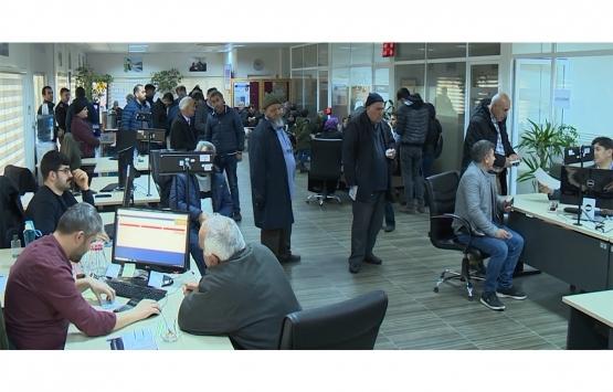 Sultanbeyli'deki mülkiyet ofisine başvurular yağdı!