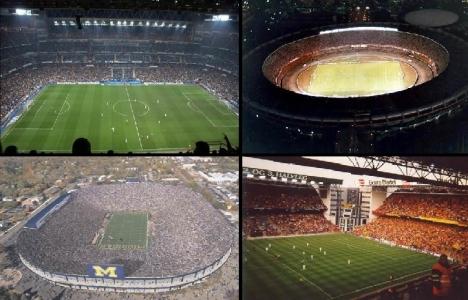 Dünyanın en büyük 15 stadyumu!
