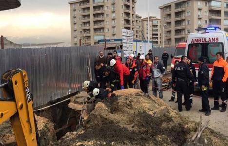 Bursa'da göçük: 1