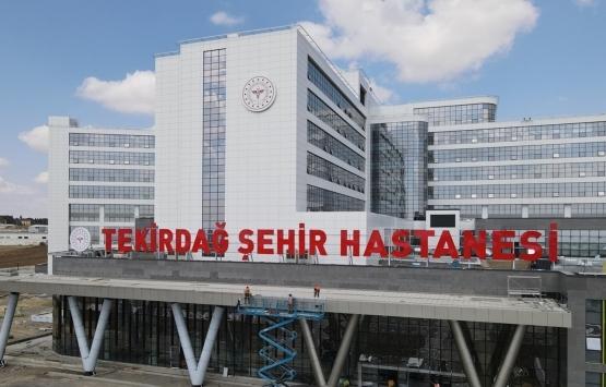 Tekirdağ Şehir Hastanesi inşaatında sona geliniyor!