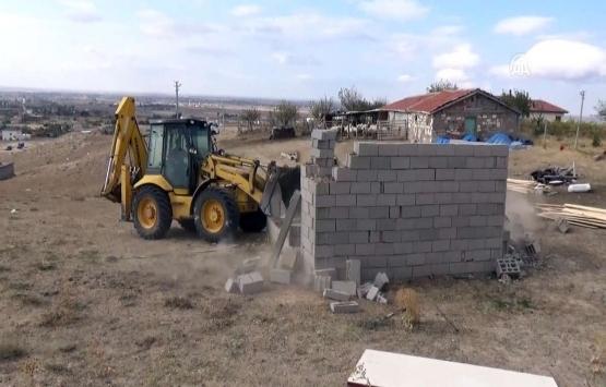 Aksaray'da imara aykırı 20 yapı yıkıldı!