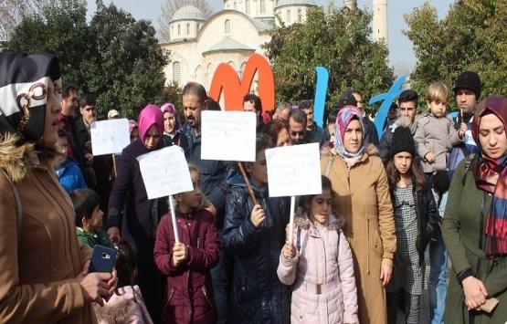 Malatya'da inşaat mağdurları eylem yaptı!