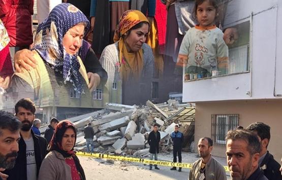 Mersin'deki çöken binada