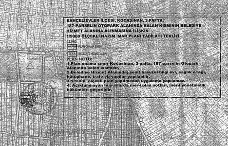Bahçelievler Kocasinan otopark alanının imar planı askıda!