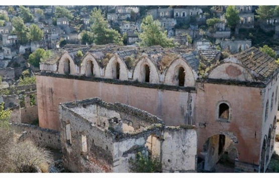 Fethiye'deki hayalet köyün tarihi kiliseleri restore edilecek!