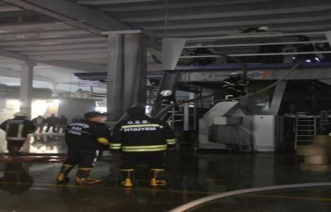 Gaziantep'te halı üreten fabrikada yangın çıktı!