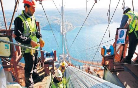 3. Köprü inşaatında 450 Güney Koreli çalışıyor!