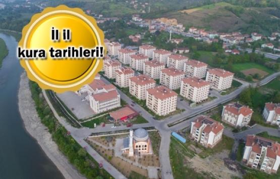 TOKİ 50 bin sosyal konut kura tarihleri açıklandı!