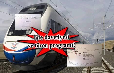 İstanbul - Ankara YHT için iki ayrı tören yapılacak!