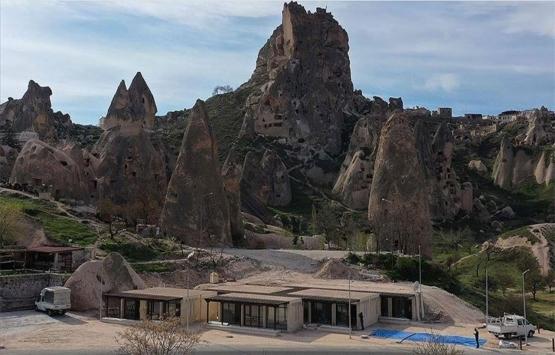 TOKİ Kapadokya'nın doğal yapısına uygun dükkanlar inşa etti!