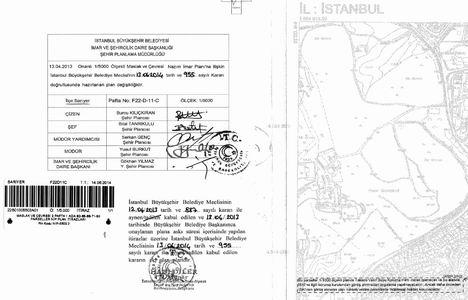 Sarıyer Maslak Taksim Vakıf Suyu imar planı tadilatı 8 Aralık'ta askıdan indiriliyor!