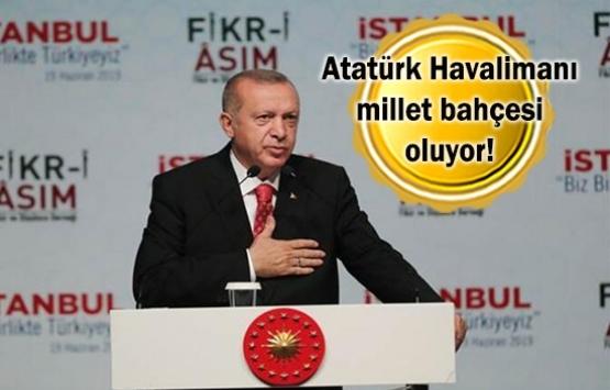 Cumhurbaşkanı Erdoğan: Millet bahçeleri ile coşuyoruz!