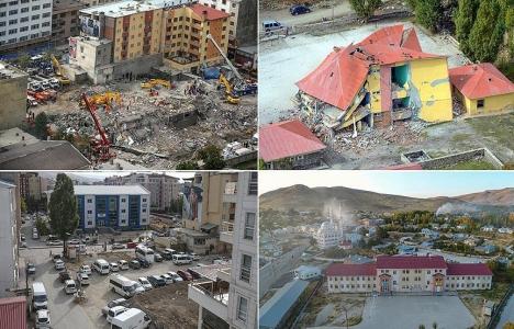 Van depreminin izleri