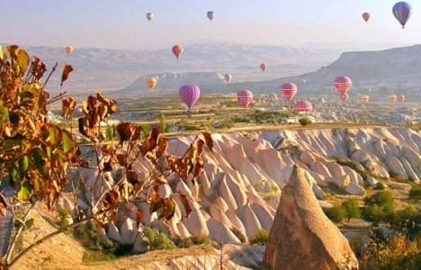 Kapadokya'da balon turlarına
