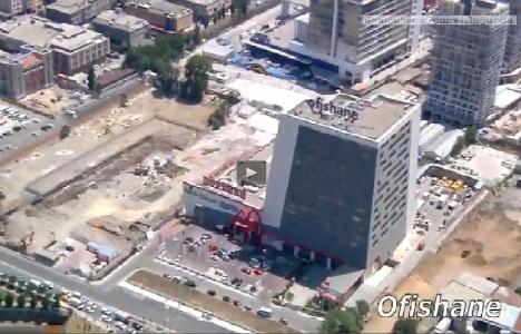 Kağıthane'de yer alan ofis projeleri havadan görüntülendi!