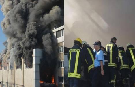 Çorlu'da kimyasal maddeler üreten fabrikada yangın çıktı!