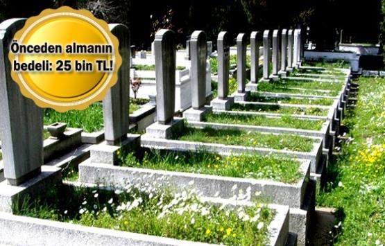 Evden pahalı fiyata mezarlık satılıyor!
