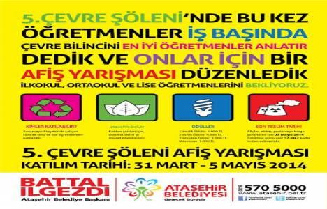 Ataşehir'de öğretmenler çevre