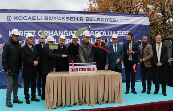 Kocaeli Orhangazi Anadolu Lisesi Spor Salonu'nun temeli atıldı!