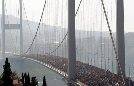 Boğaziçi Köprüsü'nde maraton