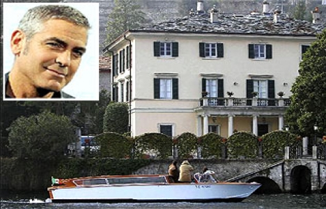 George Clooney'in villasına