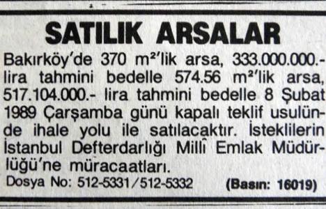 1989 yılında Bakırköy'de