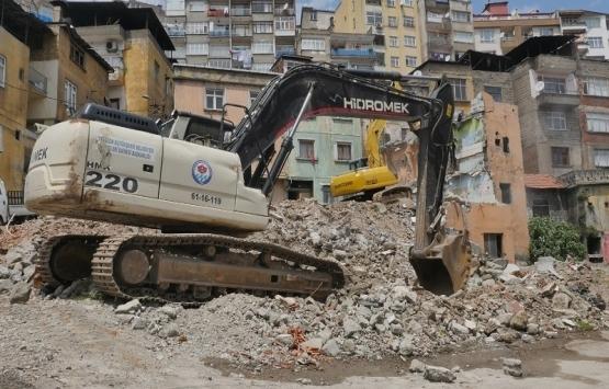 Trabzon Çömlekçi'de yıkımlar