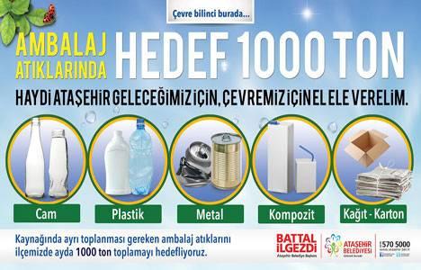 Ataşehir Belediyesi, ambalaj