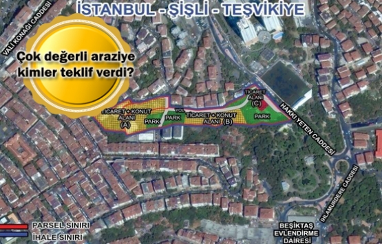 Marmara Üniversitesi Nişantaşı arsa ihalesine 6 teklif!