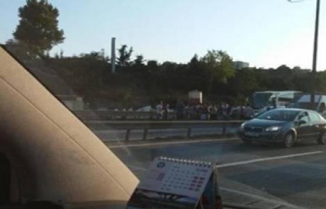 FSM'de çalışan işçiler köprüyü kapattı!