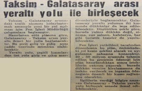 1967 yılında Taksim