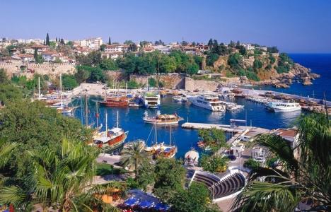 Antalya'ya gelen yabancı