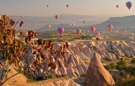 Kapadokya'da balonlar yağış
