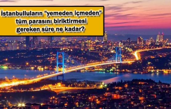 İstanbul'da bir aile ev sahibi olabilmek için kaç sene çalışıyor?